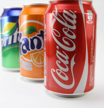 Comparing carbonated drinks and soft drinks: calories